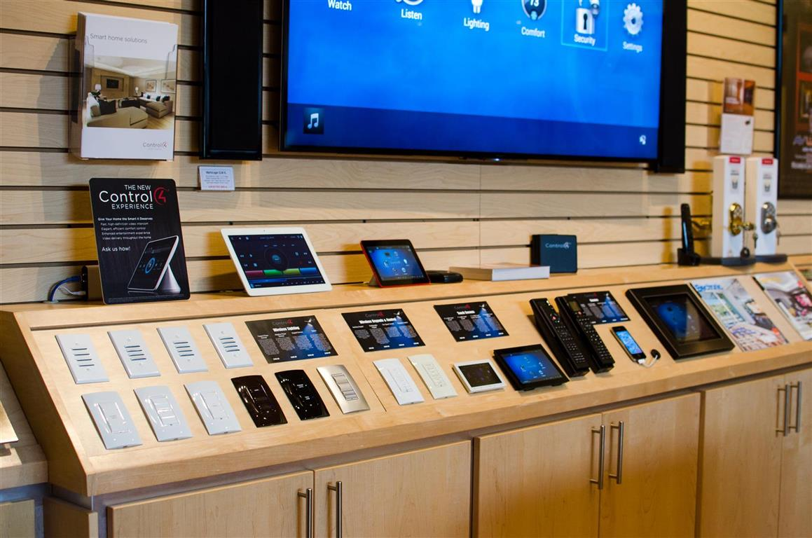 AVWORX Store with Home Automation demo equipment