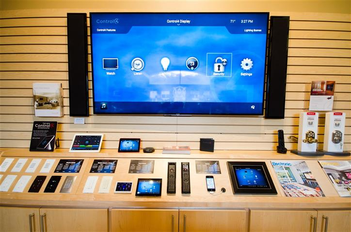Home Automation display in AVWORX showroom