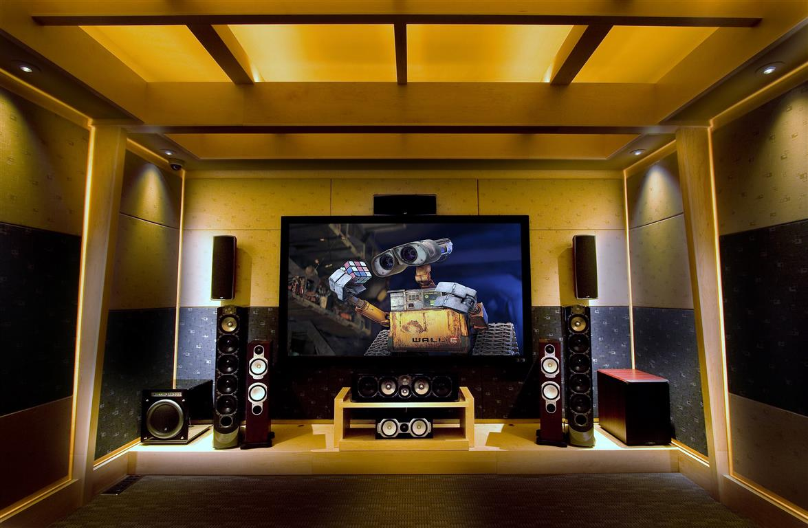 Home Theater Demo in Showroom