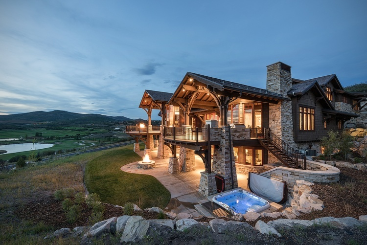 Side View of Mountain Home