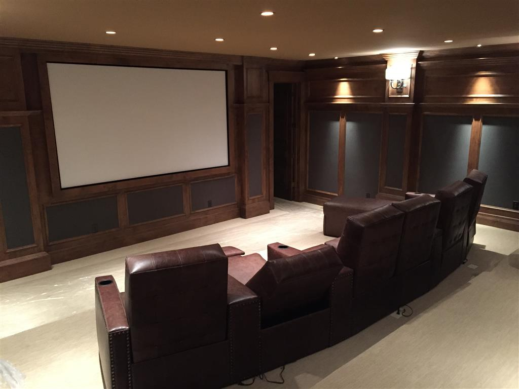 Home Theater with Group of Recliners