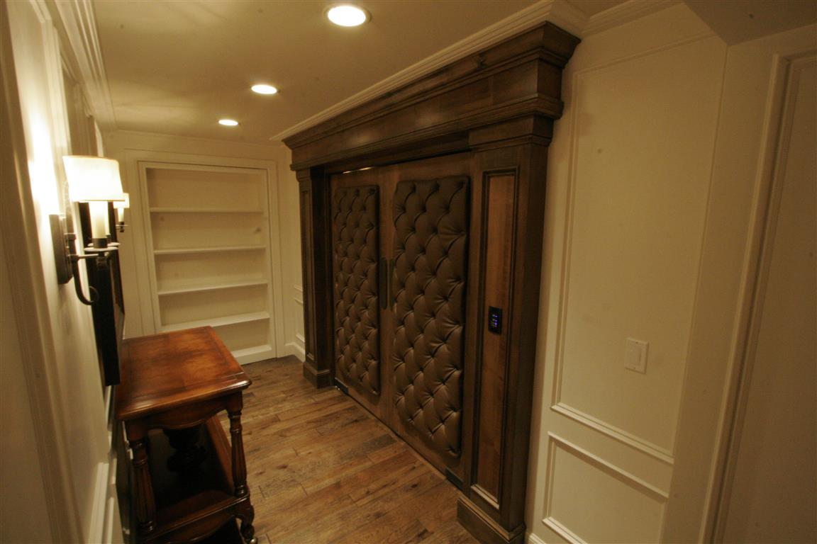 Home Theater with Plush Entrance