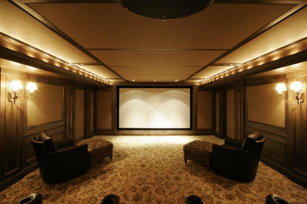 Ogden Home Theatre with Projection Screen