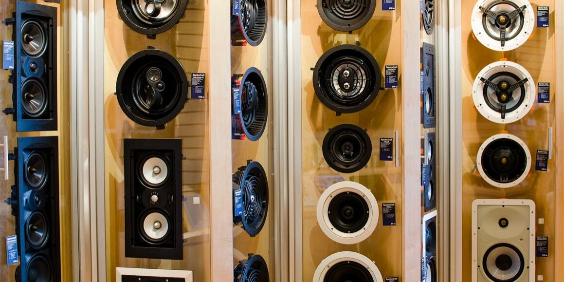 In-Wall Speakers in Showroom